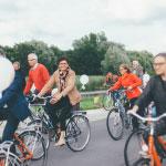 Lancering van het project met een fietsparcours